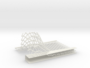 Car Factory Roof section 002 in White Natural Versatile Plastic
