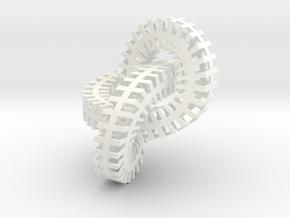 Escher Knot in White Processed Versatile Plastic