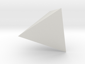 tetrahedron-l in White Natural Versatile Plastic