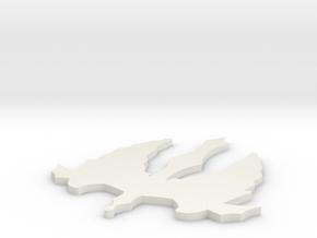 Pugnale con ali in White Natural Versatile Plastic