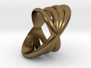 4 Rings 1  in Natural Bronze
