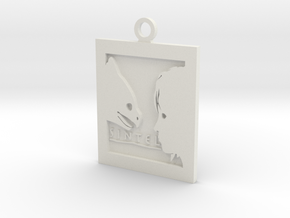 Sintel Keyring in White Strong & Flexible