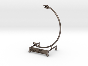 Ultimate Desk Stand in Polished Bronzed Silver Steel