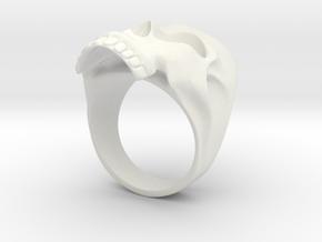 Skull No.1 in White Natural Versatile Plastic