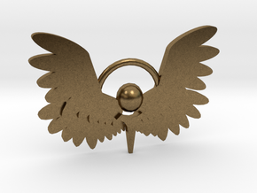 Winged Keychain in Natural Bronze