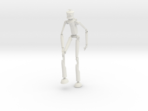 Robotman 15cm in White Natural Versatile Plastic