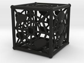 Webby die D6 (dice) in Black Strong & Flexible