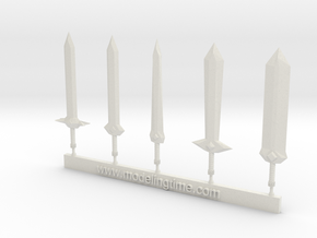 Sword kit # 1 in White Natural Versatile Plastic