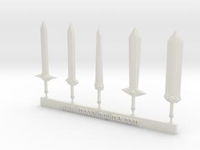 Sword kit # 1 in White Natural Versatile Plastic