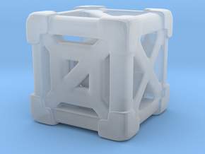 Cage 6-Sided Die - Full (smallest) in Smooth Fine Detail Plastic