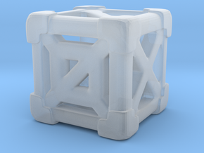Cage 6-Sided Die - Empty (smaller) in Smooth Fine Detail Plastic