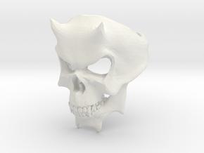 Skull Ring of DOOM in White Natural Versatile Plastic