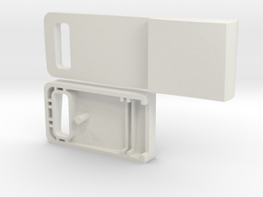 Usb Drive Case in White Natural Versatile Plastic