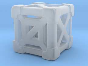 Cage 6-Sided Die - Full (smaller) in Smooth Fine Detail Plastic