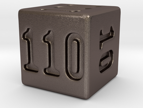 Binary 110-Sided Die in Stainless Steel