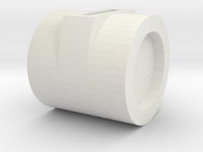 Final Knob in White Natural Versatile Plastic