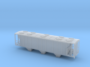 PS2 3 Bay Covered Hopper TT Scale Body in Smooth Fine Detail Plastic