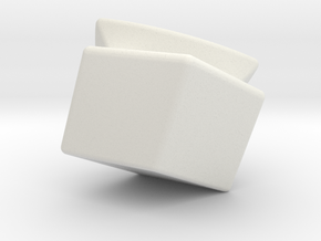 Mini Megaminx corner (Print 20) in White Natural Versatile Plastic