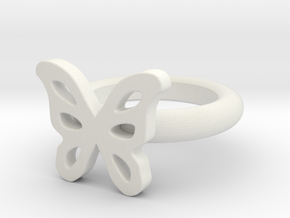 Megan Allen Butterfly Ring in White Natural Versatile Plastic