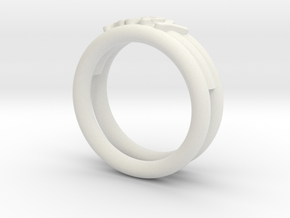 Anello Ary in White Natural Versatile Plastic