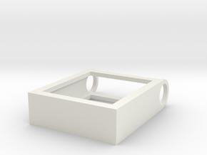 Scrabble Tile Pendant in White Natural Versatile Plastic