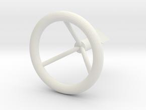Engine Knob in White Natural Versatile Plastic