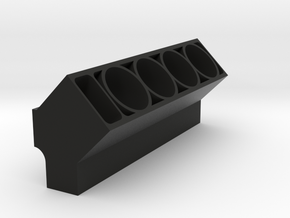 Engine Block (Half) in Black Strong & Flexible