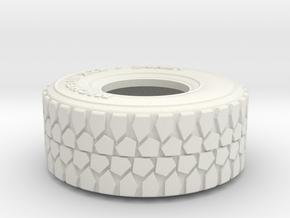 1:35 scale military truck tire in White Natural Versatile Plastic