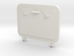Hatch in White Natural Versatile Plastic
