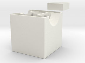 giant 1x2x3 center misc. (print 2) in White Natural Versatile Plastic