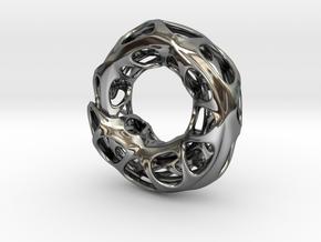 Ouroboros Pendant (M) in Premium Silver