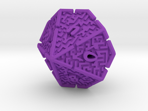 10 Sided Maze Die V2 in Purple Strong & Flexible Polished
