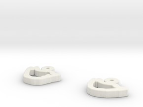 draw-earrings-4.stl in White Natural Versatile Plastic