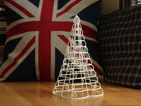 """Christmas tree """"Tower"""" in White Natural Versatile Plastic"""