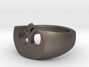 sw rebel ring v2 in Polished Bronzed Silver Steel