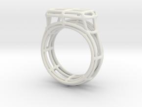 Simple Wire Signet in White Natural Versatile Plastic