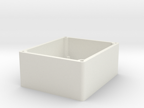 Bottom Plastic Box in White Natural Versatile Plastic