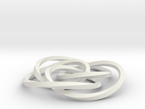 small cycloid knot in White Strong & Flexible