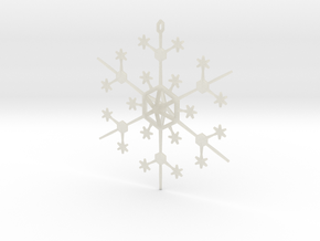 Snowflake Tree Ornament in Transparent Acrylic