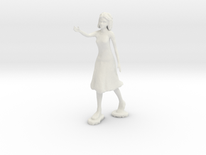 Artist Figurine in White Natural Versatile Plastic