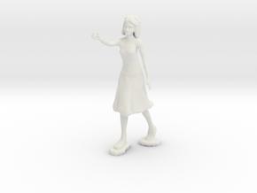 Artist Figurine in White Natural Versatile Plastic