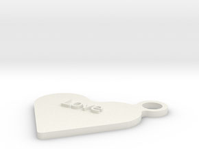Love Keyfob in White Natural Versatile Plastic