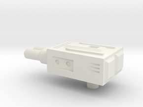 Sunlink - Double Barrel gun in White Natural Versatile Plastic