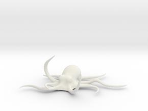 Octopus Figure in White Natural Versatile Plastic