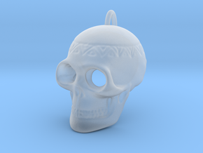 Pendant Skull (with pendant ring) in Smooth Fine Detail Plastic