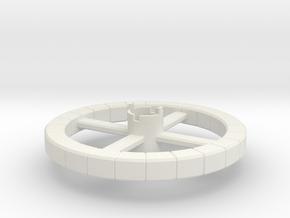 B.Y.O.S.S. Ring Square in White Natural Versatile Plastic