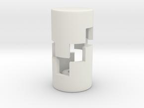 B.Y.O.S.S. End Caps Square Small in White Natural Versatile Plastic