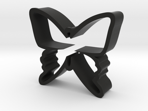 Butterfy Cookie Cutter in Black Natural Versatile Plastic