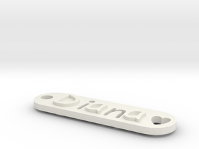 Name Tag Diana in White Natural Versatile Plastic