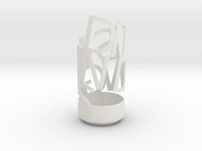Light Poem test in White Natural Versatile Plastic